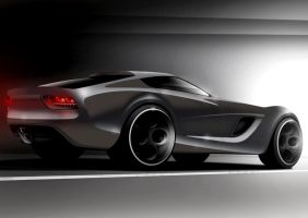 Muscle car concept by Morfiuss