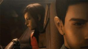 Chris Redfield and Claire Redfield in TDC by Elenakillingzombies