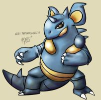 031:Nidoqueen by Mabelma