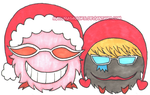 Dofy and Rocy (One Piece Christmas card) | GIFTART by MajorasMasks
