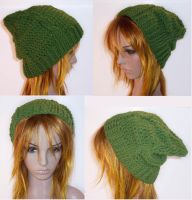 Cable Fae Slouch Hat by aprildraven