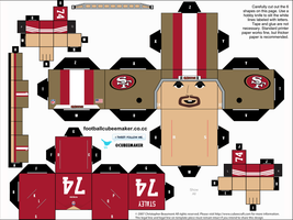 Joe Staley 49ers Cubee by etchings13