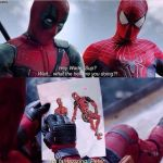 Deadpool and Spider-man by rumper1
