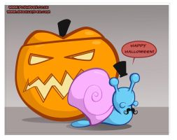 Poshbugs Halloween Snail by AbigailRyder