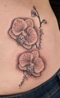 Orchid tattoo by tpenttil