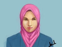 Sketching and Drawing Hijab Girl by mohdsyukri83