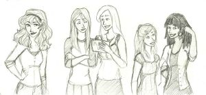 WeasleyPotter Girls' Night Out by charmontez