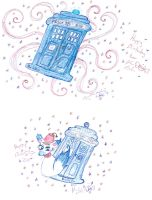 Dr Who Birthday art by Kittychan2005