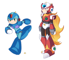 Chibis X_Zero commission by Soul-Rokkuman