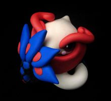 Blushing Milotic Sculpture by caffwin