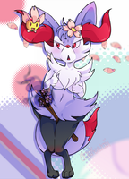 Sakura Braixen by Obakawaii