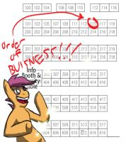 BronyCon Summer 2012 Table Location by Wildy71090