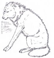 wolf lineart by tannabi