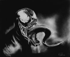 venom graphite and black pencil by aymeric2107