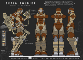 Sepia Soldier by PierreRogers