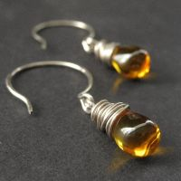Honey Elixir Teardrop Earrings by Gilliauna