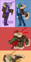 TMNT : Four Brothers by SC-Starplatinum