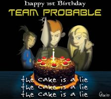 the cake is a lie by Slyrr