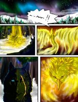 GoldenPhoenixWolf Comic Sample Page Final by Wolven-Sister