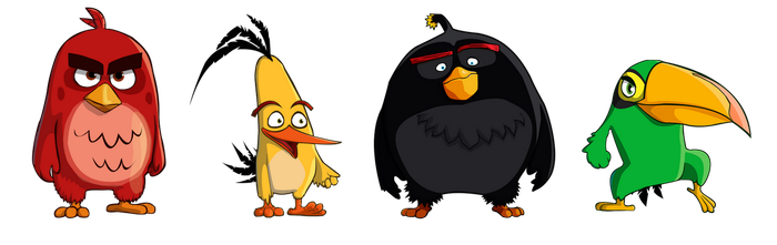Some Angry birds by CountWildrake