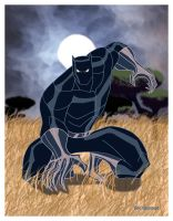 Black Panther color by EricGuzman