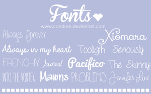Fonts by Candush by Candush