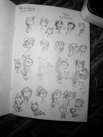 Bubblemotions: Hairstyle sketchdump by BeeTrue