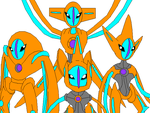 Deoxys And It's Formes by Kabutopsthebadd
