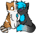 We two are Fluffy +commish+ by Spottedfire-cat