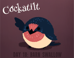 Birdstarter Day 18: Barn Swallow by Furrama