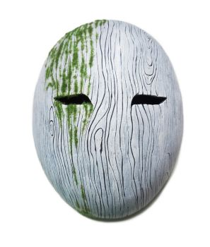 Oval Wood Grain Mask - For sale on Ebay by Bueshang