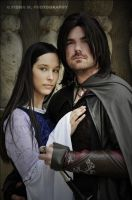 Aragorn and Arwen by ascott83
