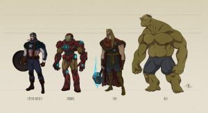 THE AVENGERS: Concept Characters Design by Spagnolo