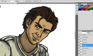 Uncharted WIP Harry closeup by Meadowknight