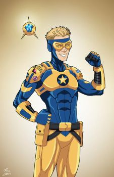 Booster Gold [teen] (Earth-27) commission by phil-cho
