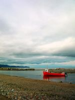 Red boat by LucieG-Stock
