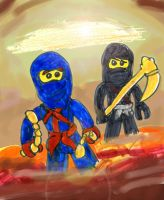 NINJAGO: Jay and Cole by SonicClone