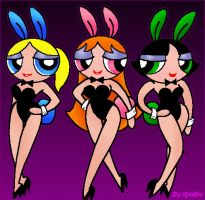 PPGs as Sexy Playbunnies by blackhellcat