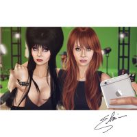 Elvira C2.0 and Cassandra Selfie by selupelu