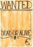 WANTED POSTER ARTWORK by Animexx-GEVATTERTOD