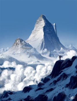 Snow mountains by Syntetyc