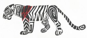Tiger Heart Tribal by Windicious