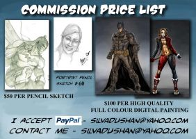 New Commission Price List by dushans