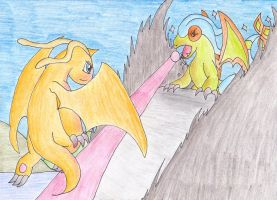 Dragonite VS Flygon Take II by Operia