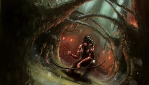 Lara Croft Reborn Contest: Pursuit of Sam by ESPj-o