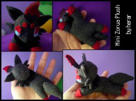 Mini Zorua Plush by SmileAndLead