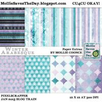 Winter Arabesque Extra Papers by Mollie-Coonce