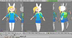 Fionna work in progress (second attempt) by gothicjinx101