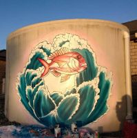 Commissioned Snapper Fish Mural by ToxicaFay