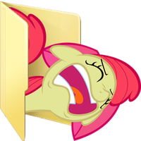 Custom Applebloom folder icon (derp version) by Blues27Xx